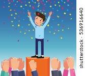 vector concept applause winner... | Shutterstock .eps vector #536916640
