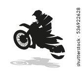 motocross racing  abstract... | Shutterstock .eps vector #536922628