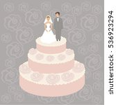 vector of wedding cake | Shutterstock .eps vector #536923294
