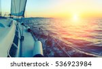sailing ship luxury yacht in... | Shutterstock . vector #536923984