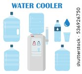 office water set. water cooler... | Shutterstock .eps vector #536926750