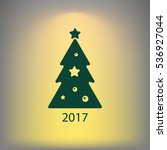 pictograph of christmas tree   Shutterstock .eps vector #536927044
