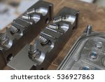 metal tool for molding rubber... | Shutterstock . vector #536927863