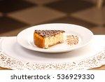 one piece of fresh cheesecake...   Shutterstock . vector #536929330