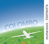 colombo flight destination | Shutterstock .eps vector #536930476