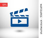 clapper board  icon. one of set ... | Shutterstock .eps vector #536931694