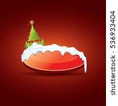 christmas vector red glossy... | Shutterstock .eps vector #536933404