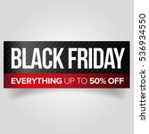 black friday web banner vector | Shutterstock .eps vector #536934550