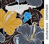 aloha hawaii  luau party... | Shutterstock . vector #536935603