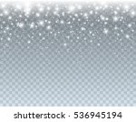 falling glowing white xmas snow ... | Shutterstock .eps vector #536945194