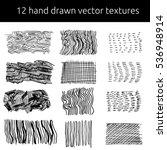 vector pen textures set. grungy ... | Shutterstock .eps vector #536948914