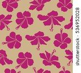 aloha hawaiian shirt seamless... | Shutterstock . vector #536952028