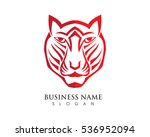 tiger logo template | Shutterstock .eps vector #536952094