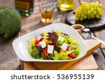 Salad With Fresh Vegetables An...