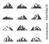 vector mountain set. simple... | Shutterstock .eps vector #536958670