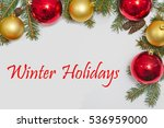 christmas decoration with text... | Shutterstock . vector #536959000