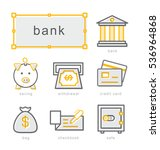 thin line icons set  linear...   Shutterstock .eps vector #536964868
