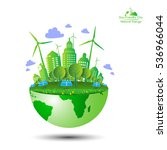 eco friendly. ecology concept... | Shutterstock .eps vector #536966044