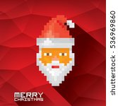 merry christmas pixel art style ... | Shutterstock .eps vector #536969860