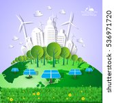 eco friendly. ecology concept... | Shutterstock .eps vector #536971720