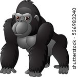 cartoon funny gorilla isolated... | Shutterstock . vector #536983240