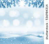 winter bright background.... | Shutterstock . vector #536984314