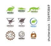 crocodile logo design | Shutterstock .eps vector #536993869