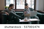 two entrepreneurs working and... | Shutterstock . vector #537001474