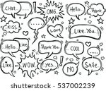 set of speech bubbles with... | Shutterstock .eps vector #537002239