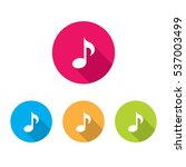 modern music note icons with...