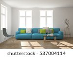 white room with sofa.... | Shutterstock . vector #537004114