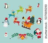 christmas elements vector set | Shutterstock .eps vector #537005050