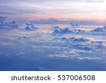 wing of the plane on a... | Shutterstock . vector #537006508