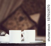 two turkish coffee cups and... | Shutterstock . vector #537013570