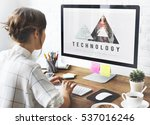 cloud computing connection... | Shutterstock . vector #537016246