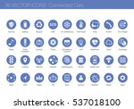 icon set of connected cars... | Shutterstock .eps vector #537018100
