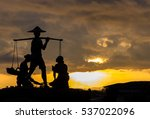 Silhouette Of Traditional Thai...