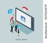 business in internet social... | Shutterstock .eps vector #537023479