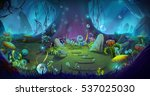 fantastic and magical forest.... | Shutterstock . vector #537025030