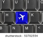 Computer Keyboard With Plane...