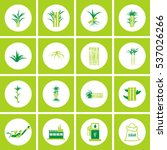 sugar cane icons vector. | Shutterstock .eps vector #537026266