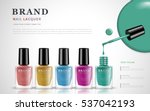various colors of nail lacquers ... | Shutterstock .eps vector #537042193