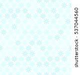 cyan snowflake pattern.... | Shutterstock .eps vector #537044560