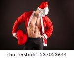 Sexy Santa Claus Wearing Masko...