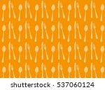 cutlery pattern  vector... | Shutterstock .eps vector #537060124