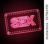 sex shop neon sign | Shutterstock .eps vector #537061450