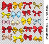 set of patch badges bows.... | Shutterstock .eps vector #537065083