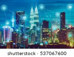 smart city and wireless... | Shutterstock . vector #537067600