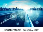 smart city and wireless... | Shutterstock . vector #537067609