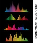 colour music digital soundwaves ...